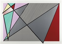 imperfect 63 3/8 x 88 7/8 (from imperfect series) by roy lichtenstein
