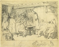 haspinger, die tiroler anfeuernd by alois gabl