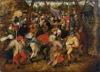 la danse de noces en plein air by pieter brueghel the younger