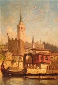 la tour de léandre by charles théodore (frère bey) frère