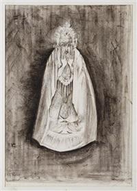 the rabbi, de la serie the dybbuk by leonora carrington