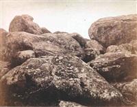 rochers près des gorges d'apremont, forêt de fontainebleau by eugène cuvelier