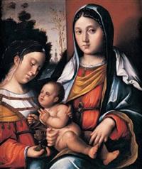 madonna con il babino e sant maria maddalena by bernardino di bosio zaganelli
