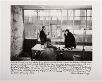 self-portrait with robert frank, new york january by allen ginsberg