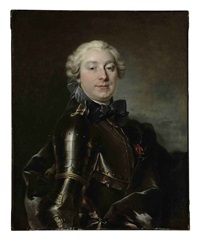 portrait of a gentleman in armor by louis tocqué