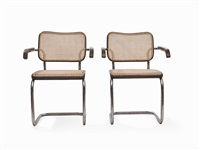 cantilever chairs (model b64) (pair) by marcel breuer