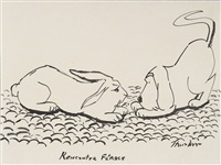 recontre feroce - ferocious encounter (illus.) by james thurber
