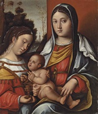 the madonna and child with saint mary magdalene by bernardino di bosio zaganelli