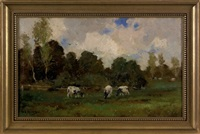 landscape with cows by martinus jacobus nefkens