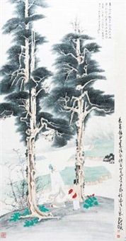 松下高仕 by zhang daqian