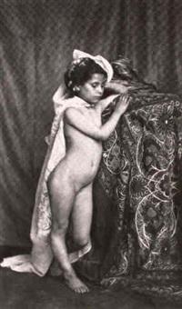 petite fille nue (de trois-quarts) by eugène (jean louis marie) durieu