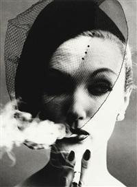 smoke and veil, paris (vogue) by william klein