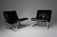 zwei prototyp steck-sessel hc 32 by judith and konrad wachsmann