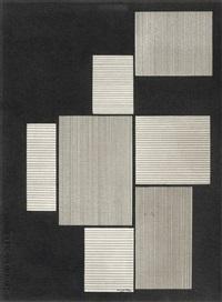 tekening met geometrische vlakken by amédée cortier
