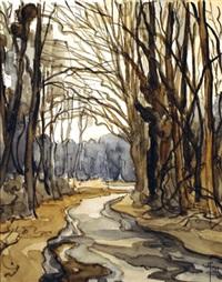 sous bois en hiver by robert yan