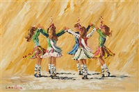 irish dancers by lorna millar