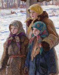 three sisters by nikolai petrovich bogdanov-bel'sky