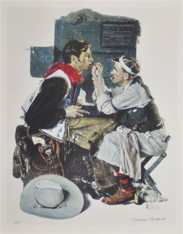 the texan by norman rockwell