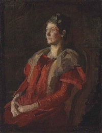 portrait of mrs. charles l. leonard (study) by thomas eakins