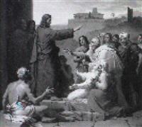 le christ guerissant l'aveugle by françois louis dejuinne