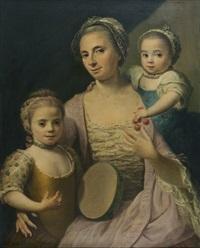 portrait de jeune femme et ses deux filles by guillaume françois colson