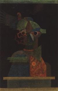 madárijesztö-önarckép (bogey, self portrait) by györgy szemadám