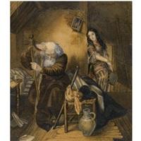 scene from willhelm meister's apprenticeship by karl pavlovich bryullov
