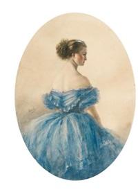 portrait of princess anna wittgenstein by mihály von zichy