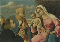 san pietro raccomanda alla madonna e bambino un donatore by girolamo da santacroce