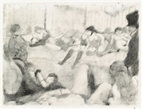 au salon by edgar degas