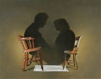 conversation between two chairs by nick cudworth