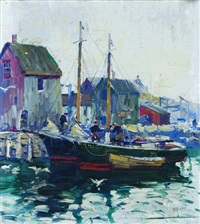 at the dock by anthony thieme