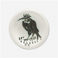 bird with tuft plate by pablo picasso