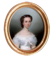 jeune femme brune en buste by théophile emmanuel duverger