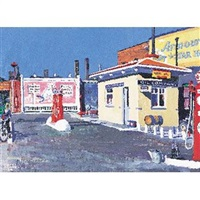 gas station, evanston by walter burt adams