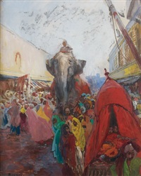 how-dah, hyderabad by albert besnard