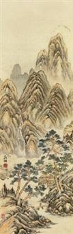 山水 by wen zhengming