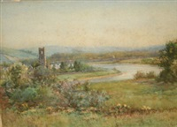 inniscarra abbey - on the river lee, co. cork by kate dobbin