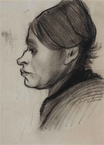 head of a peasant woman left profile by vincent van gogh