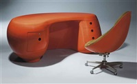 boomerang desk (+ desk chair; 2 works) by maurice calka