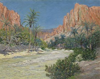 le matin, oued d'el-kantara by maxime maufra