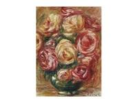 vase de roses by pierre-auguste renoir