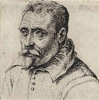 portrait of a man with a moustache and goatee by jacques de gheyn ii