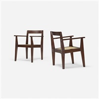 pair of demountable armchairs from chandigarh by pierre jeanneret