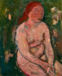sitting nude by georges (karpeles) kars