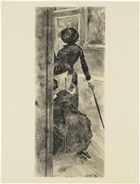 au louvre : la peinture (mary cassatt) by edgar degas