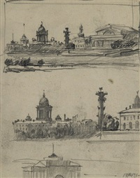 views of saint petersburg by anna petrovna ostroumova-lebedeva