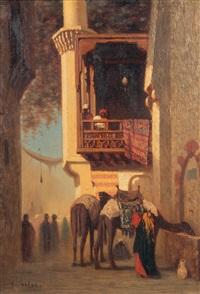 coin de rue au mouski au caire by charles théodore (frère bey) frère