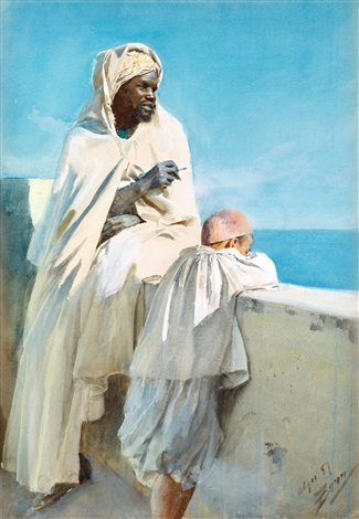 on the terrace algiers by anders zorn