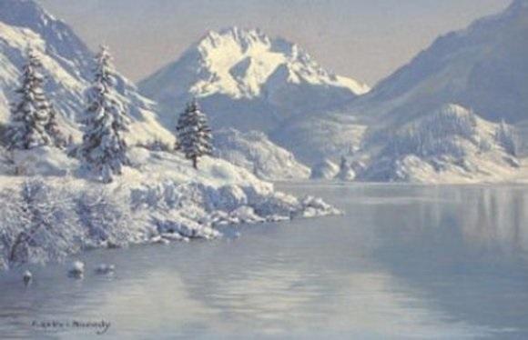 lac de montagne saint moritz by friedrich albin koko micoletsky